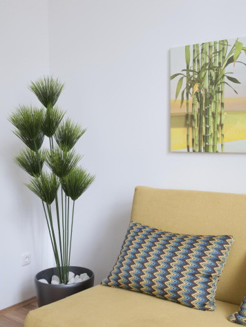 umělé rostliny v interiérech