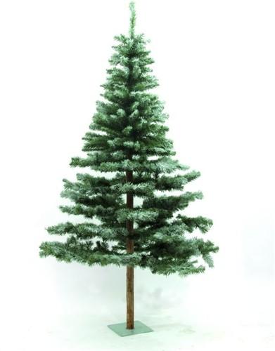 umělý vánoční stromek s kmenem z živého stromku