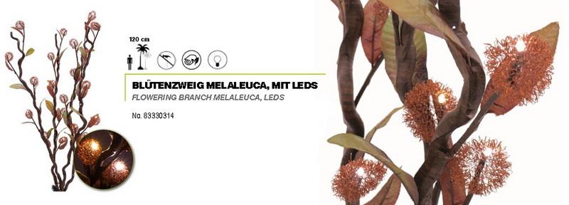 Kvetoucí Melaleuca s 20 LED, 120cm