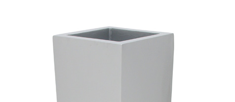 Květináč LEICHTSIN BOX-100, lesklý-stříbrný