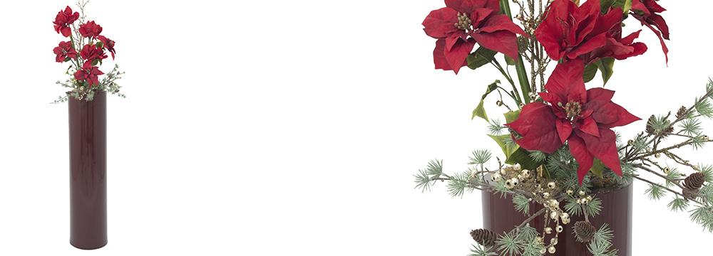 vánoční dekorace umělých rostlin