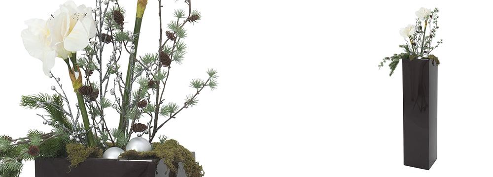 zimní dekorace umělých rostlin
