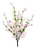 Třešen větvička, růžová 60cm
