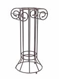 Kovový sloup řecký rezavý-lakovaný, výška 80 cm
