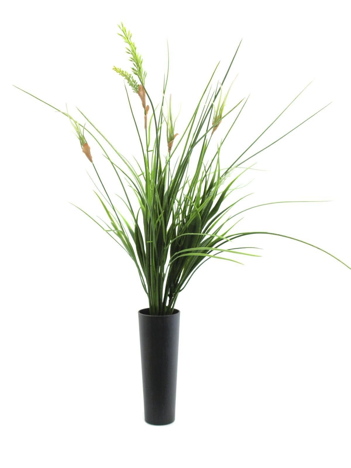 umělá tráva v květináči 66cm